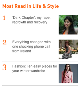Not bad! No.1 in The Irish Times Life & Style section